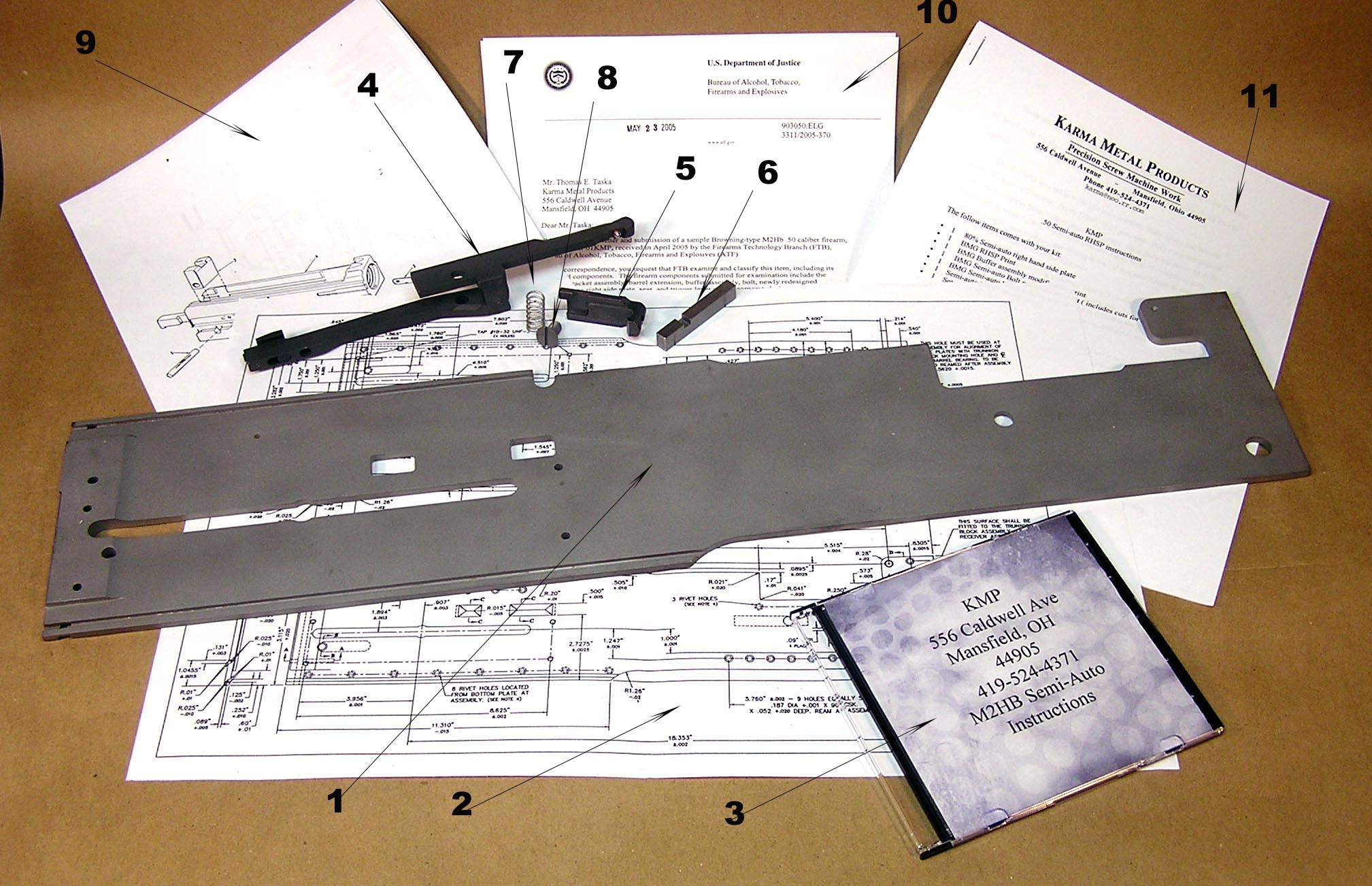 Kmp Classic Arms 50 Caliber Parts